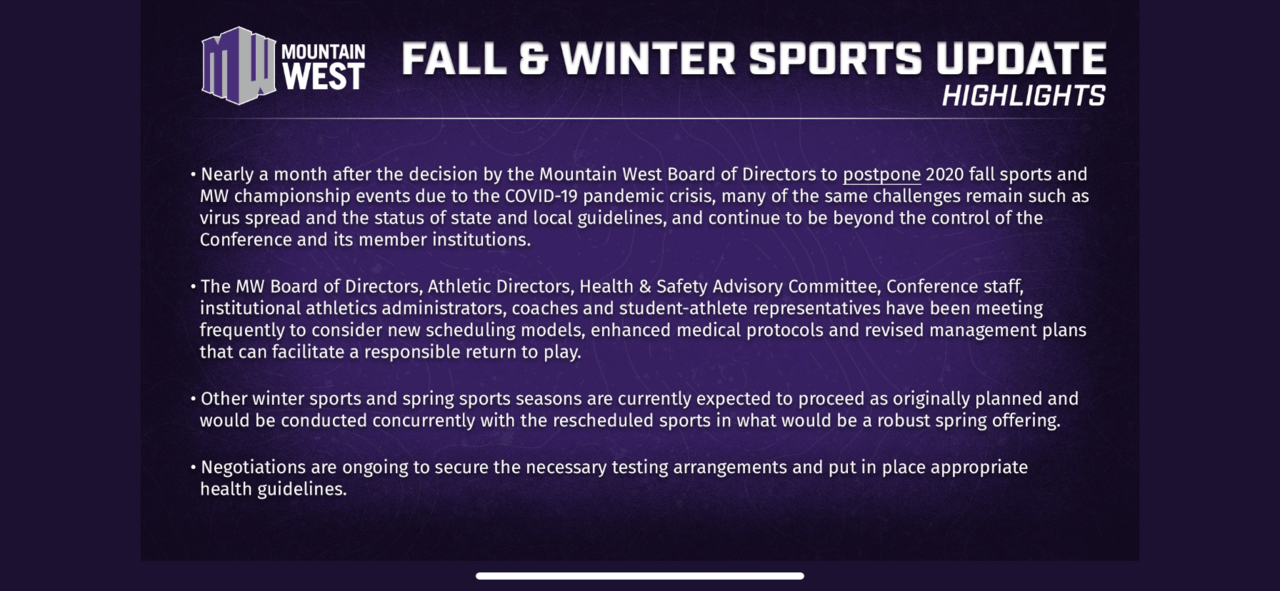 Mountain West says plans still in place to play basketball ...